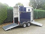 Ifor Williams HB403 paardentrailer, blauw.