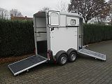 Ifor Williams HB403 paardentrailer, wit.