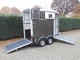 Ifor Williams HB403 paardentrailer, graphite.