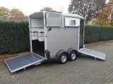 Ifor Williams HB511 paardentrailer, zilver.