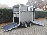 Ifor Williams HB506 paardentrailer, zilver.
