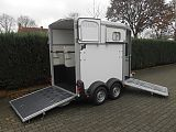 Ifor Williams HB506 paardentrailer,  wit.